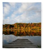 Fall On The Lake Fleece Blanket