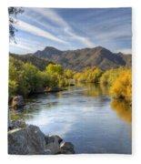 Fall On The Salt River  Fleece Blanket
