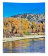 Fall On The Snake River Fleece Blanket