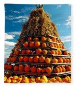 Fall Pumpkins Fleece Blanket