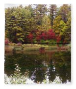 Fall Reflection And Colors Fleece Blanket