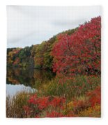 Fall Reflection Fleece Blanket