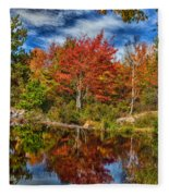 Fall Reflections In Maine Img 6312 Fleece Blanket