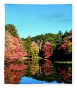 Fall Reflections Fleece Blanket