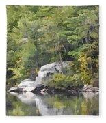 Fall Reflections Wc Fleece Blanket