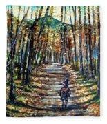 Fall Ride Fleece Blanket