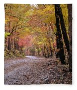 Fall Road Fleece Blanket