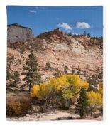 Fall Season At Zion National Park Fleece Blanket