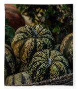 Fall Squash Harvest Fleece Blanket