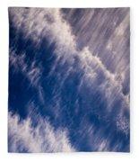 Fall Streak Clouds 5 Fleece Blanket
