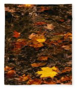 Fall Stream Bed Fleece Blanket