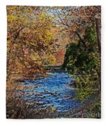 Fall Stream Fleece Blanket