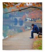 Fall Thoughts Fleece Blanket