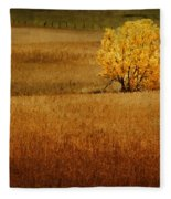 Fall Tree And Field #1 Fleece Blanket