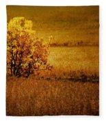 Fall Tree And Field #2 Fleece Blanket