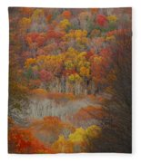 Fall Tunnel Fleece Blanket