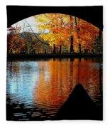 Fall Under The Bridge Fleece Blanket