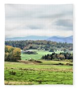 Fall Vermont Landscape Fleece Blanket