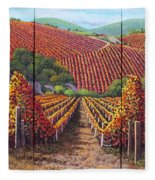 Fall Vineyard Fleece Blanket