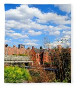 Fall Walk On The High Line Fleece Blanket