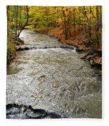 Fall Waters Fleece Blanket