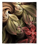 Fallen From Grace Abstract Fleece Blanket