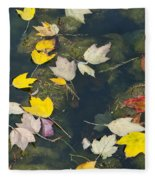 Fallen Leaves 2 Fleece Blanket