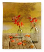Fallen Leaves Fleece Blanket