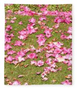 Fallen Rhododendron Fleece Blanket