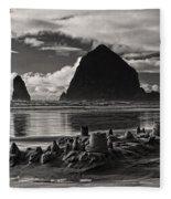 Fallen Sand Castles Fleece Blanket