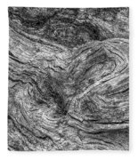 Fallen Tree Bark Bw Fleece Blanket