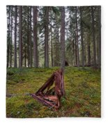 Fallen Tree Fleece Blanket