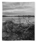 Fallen Trees At The Lake Fleece Blanket