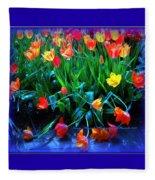 Fallen Tulips Fleece Blanket