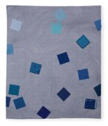 Falling Blue Squares Fleece Blanket