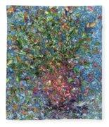 Falling Flowers Fleece Blanket
