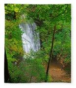 Falling Foss Waterfall In North York Moors National Park Fleece Blanket