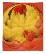 Falling Into A Flower Fleece Blanket