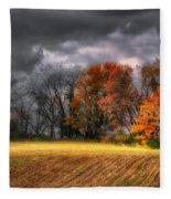 Falling Into Winter Fleece Blanket