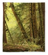 Falling Trees In The Rainforest Fleece Blanket