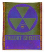 Fallout Shelter Abstract Fleece Blanket