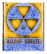 Fallout Shelter Wall 3 Fleece Blanket