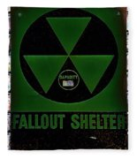 Fallout Shelter Wall 4 Fleece Blanket