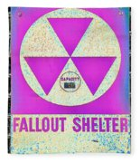 Fallout Shelter Wall 6 Fleece Blanket