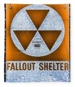 Fallout Shelter Wall 8 Fleece Blanket