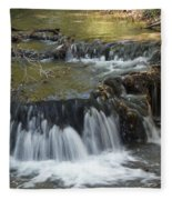 Falls Along Big Stone Lake Fleece Blanket