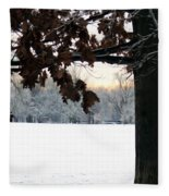 Falls Colors At First Snowfall Fleece Blanket