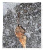 Fall's Fallen Meets Spring Sunshine Fleece Blanket