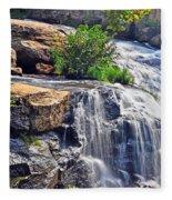 Falls Of Reedy River Fleece Blanket
