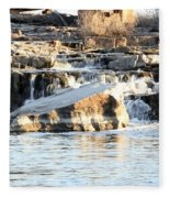 Falls Park Waterfalls Fleece Blanket